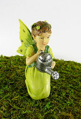 16442 Dollhouse Miniature Garden Fairy Girl in Green w//Watering Can Closeout