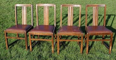Fab! Set Of Four Original Ercol Dining Chairs - Project?