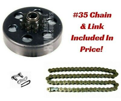 "#35 Chain 4 Ft, Clutch 3/4"" Bore, & Master Link Kit Torque Predator 212cc Motor"