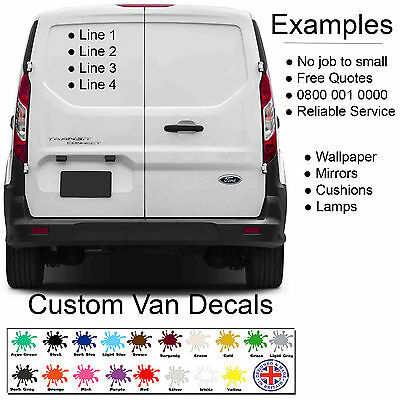 Custom van personalised car vehicle graphics sign writing decals stickers