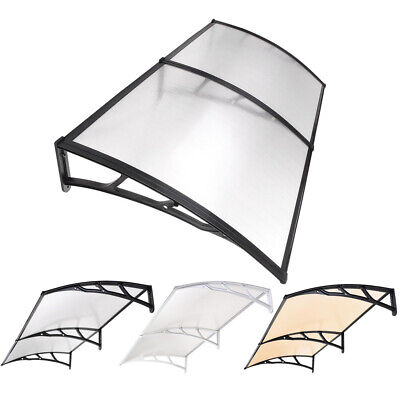 """80"""" x 40"""" Window Door Awning Complete Polycarbonate Sheet Patio Outdoor Canopy"""