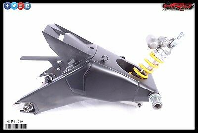 2008 Yamaha YZF-R6 YZF R6 OEM Complete Rear Swing Arm with Shock Absorber