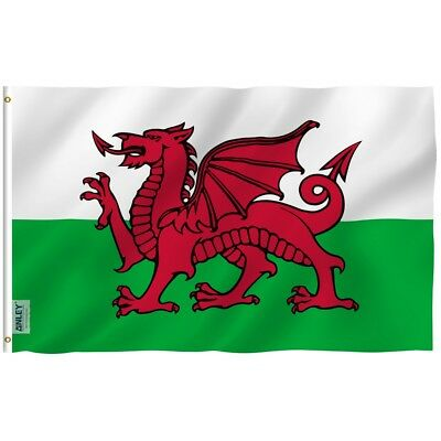 Anley Fly Breeze 3x5 Foot Wales Flag Welsh National Flags Polyester 3 X 5 Ft