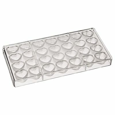 Fat Daddio's Polycarbonate Candy Chocolate Mold Wrapped 28-pc Heart PCM-1701