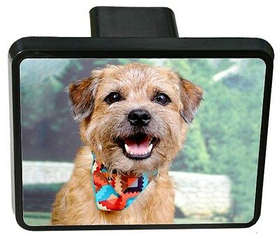 Border Terrier Trailer Hitch Cover