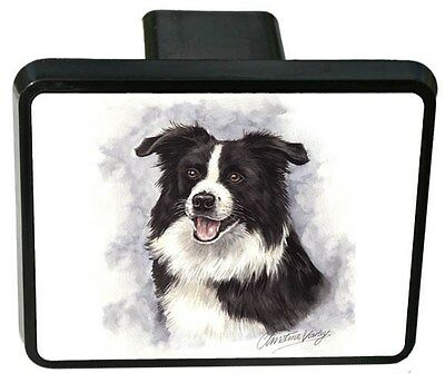 Border Collie Trailer Hitch Cover