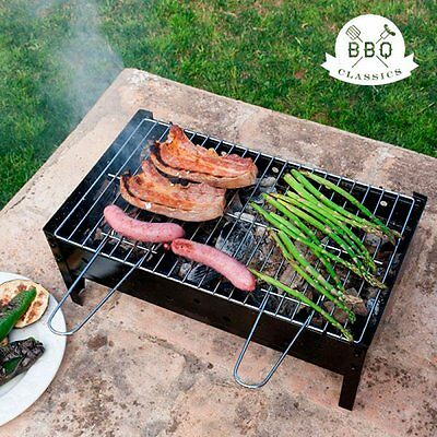 Portable BBQ Grill Charcoal Barbecue Table Top Coal Collapsible Outdoor Camping