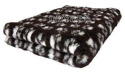 Drybed® Antiderapant Chocolat Pattes Blanches