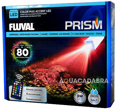 Fluval Prism Submersible Led Light Reef Fish Tank Underwater Remote Lighting Set