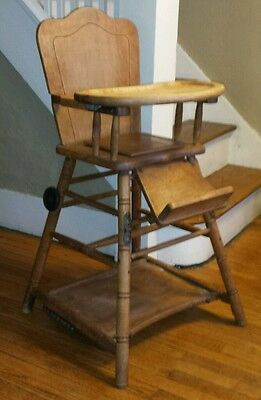 RARE Antique High & Potty Chair Play Center 1 of KIND HAND MADE