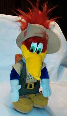 "Woody Woodpecker Plush 16"" Stuff Animal Doll Made 1999 Universal Studios"