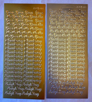 Peel Off ' On Your Christening Baby's Day ' Stickers - In Gold or Silver