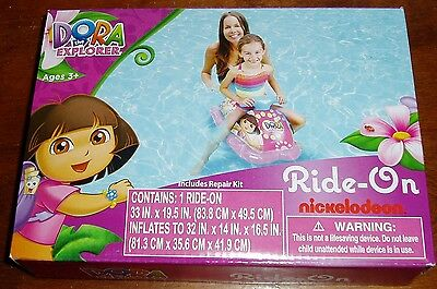 Nickelodoon Dora the Explorer Ride-on pool toy #28040  ages 3+ years