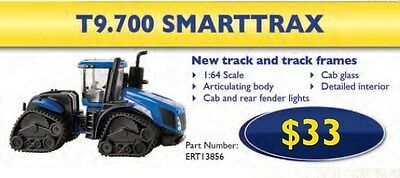 NEW HOLLAND TOY REPLICA T9.700 SMARTTRAX TRACTOR SCALE 1:64 Part# ERT13856