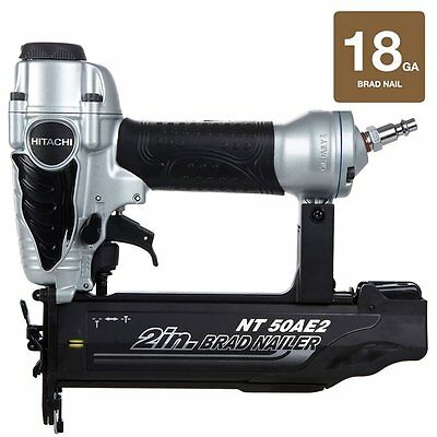 "Hitachi NT50AE2 18-Gauge 5/8 inch NEW 2"" Roundhead Finishing Pneumatic Nailer"