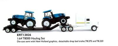 TOY REPLICA SEMI & NEW HOLLAND T8.275 & T8.330 TRACTOR SCALE 1:64 Part# ERT13826