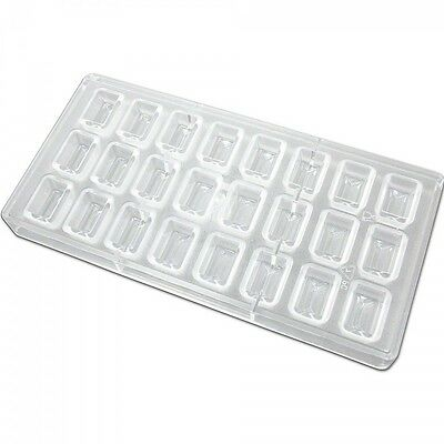 Fat Daddio's Polycarbonate Candy Chocolate Mold Rectangle 24-pc Tray PCM-1025