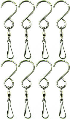 Shipityourway Wind Spinner Swivel Clip Hook Rotate Turn Twist Spin Hang Display