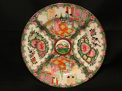 "Antique Late 1800s Early 1900s Chinese Famille Rose Porcelain Plate 10"" Gorgeous"