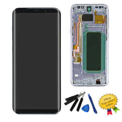 Orchid Gray LCD Display Touch Screen Digitizer +Frame For Samsung Galaxy S8 Plus