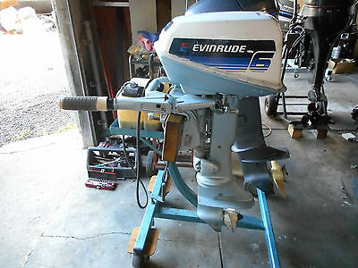 Evinrude Outboard 6Hp Short Shaft , With Fuel Tank & Lead