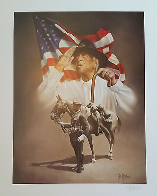 """Buffalo Soldier Art Print """"Final Salute"""" L/E Sign/Numbered w/Authenticity Doc"""