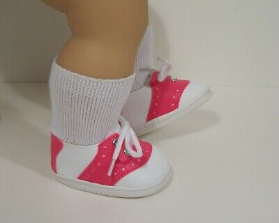 """2-Tone LT /& DK PINK Saddle Oxford Doll Shoes For 15/"""" Bitty Baby /& Twins Debs"""