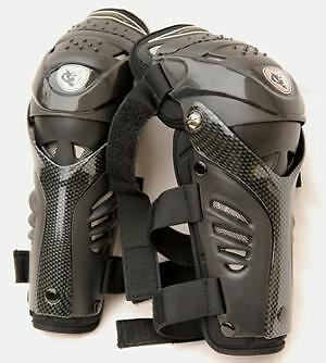 Motocross WULFSPORT Body Armour Protection Adult Hinged Knee Guards Pads Quad