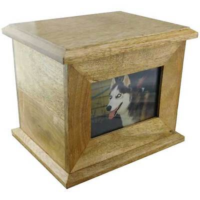 """Pet Cremation Urn 4""""*6"""" Photo Frame For Pets up to 350lbs Rosewood. PCO-316"""