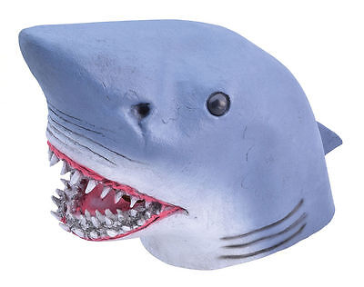 Shark Rubber Over Head Jaws Mask For Fancy Dress And Costume Accessory