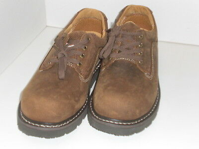 NEW DAKOTA Men's Size 9-9.5 CSA Steel Toe Brown Leather Low Cut Work Boots