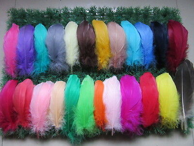 Wholesale 20-200 pcs beautiful natural goose feather 12-17 cm / 5-7 inch color