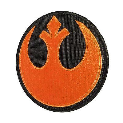 Rebel Alliance Star Wars ORANGE red squadron cosplay parche hook patch