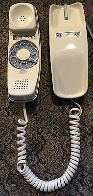 EUC VTG Western Electric Bell Tan Trimline Rotary Desktop Telephone w/Line/Cord