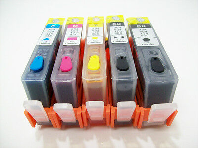 Pre-Filled Refillable ink cartridge new chip for HP 564XL D7500 B8550 D7560