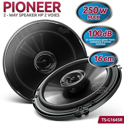 """100% Authentic PIONEER TS-G1645R G Series 250W 6.5"""" 2-Way Coaxial Speaker System"""