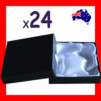 24X Economy Plain Bangle Bracelet Gift Box-9x9cm-White Inlay | AUSSIE Seller