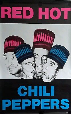 RED HOT CHILI PEPPERS Orig. Promo Poster 40x60 inch FREE INTERNATIONAL SHIPPING