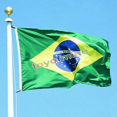 3x 5ft 90x150cm Brazil National Flag Brazilian Football & Sports Banner