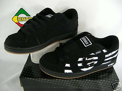 New Mens 9 ETNIES Capital Black Suede Leather Skate Shoes