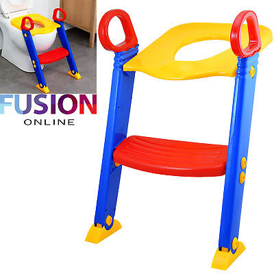 Baby Potty Training Ladder Step Toilet Seat Loo Trainer System Toddler Safety