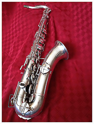 **Antique Silver Plated Rare Collectable Buescher Stencil Lyon Healy Saxophone**