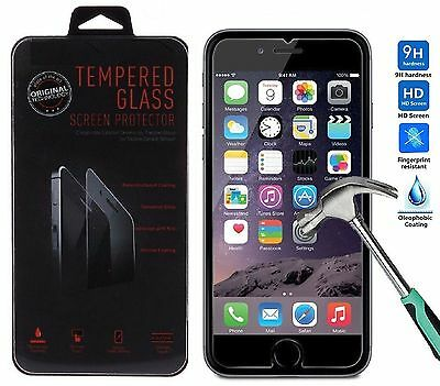 """Genuine Tempered Glass Screen Protector for Apple iPhone 6S Plus + 6 Plus 5.5"""""""