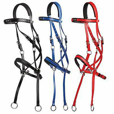 Zilco Horse Riding Synthetic Bitless Bridle - Full Size