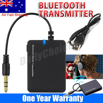 Bluetooth Wireless Stereo Audio Music Transmitter Car AUX Adapter Dongle 3.5mm