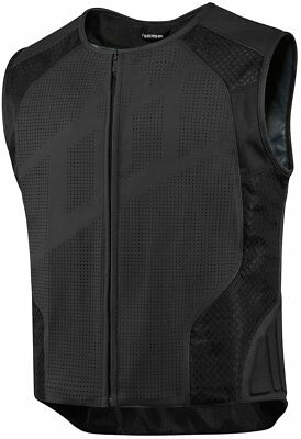 Icon Mens Hypersport Stripped Armored Leather Vest
