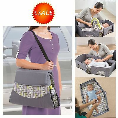 Portable Infant Baby Travel Bed Crib Sleeper Bassinet Lightweight Diaper Changer