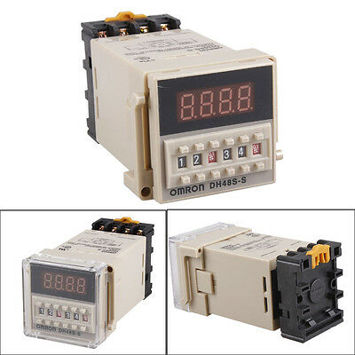 0.1s-99h Programmable Digital Timer Double Time Delay Relay Device Tool AC 110V