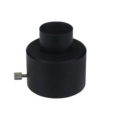 "Black 1.25"" Convert to 2"" Thread Telescope Eyepiece Connector Adapter Black"