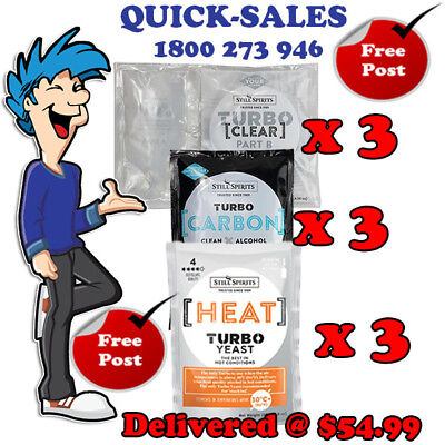 Heat Wave Turbo Yeast, Carbon & Clear x 3 Pack Promo @ $47.99 *** Delivered ***